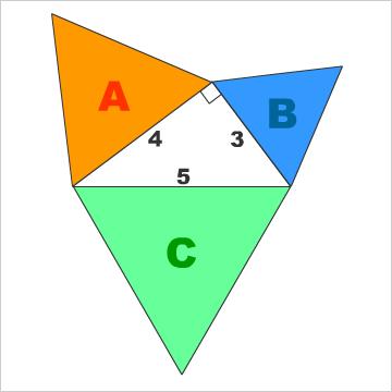 正三角形ピタゴラス