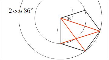 2*cos36°